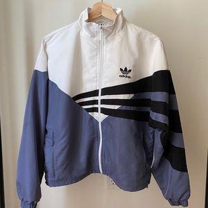 Adidas Zip Track Top Raw Indigo White Blue Black